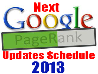 pagerank updates 2013