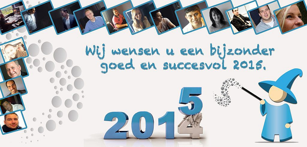 Saleswizard wenst iedereen een goed gevonden 2015!