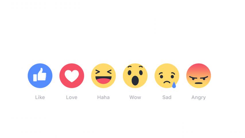 Naast Leuk, nu ook Geweldig, Grappig, Verbluft, Verdrietig en Boos op Facebook