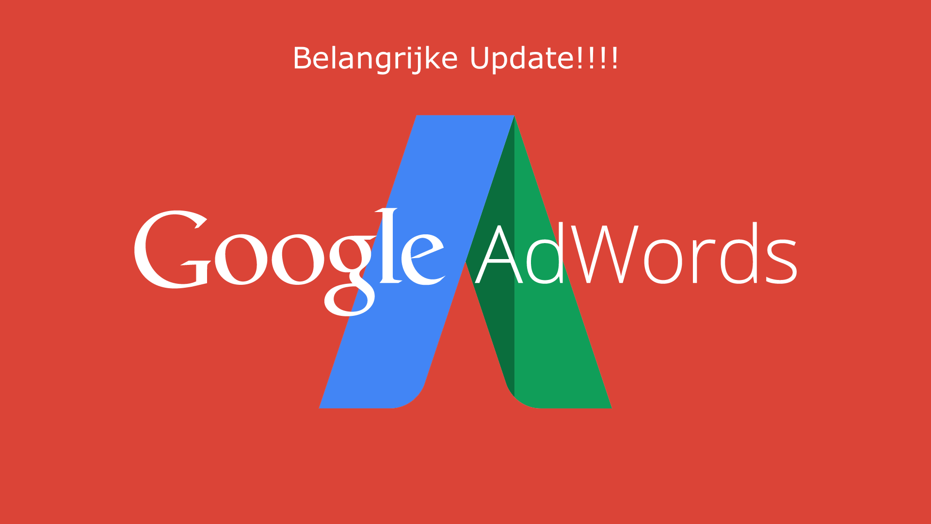 Google Adwords update