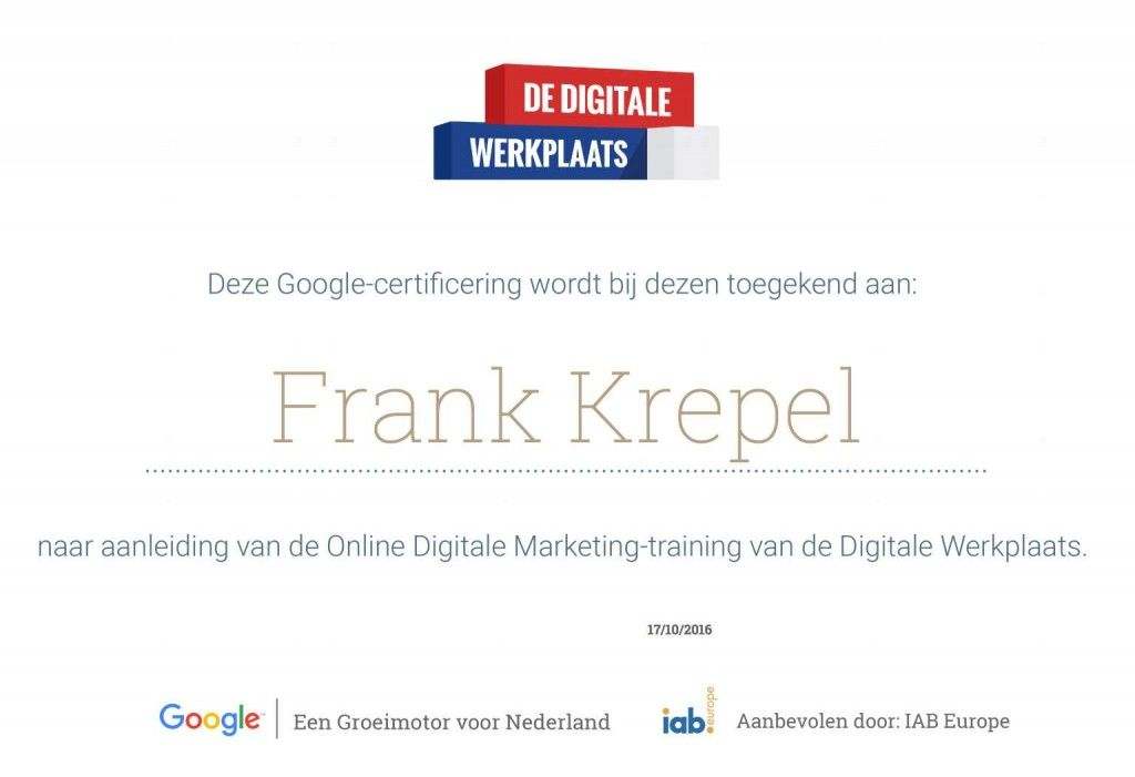 89 Online Marketing Lessen van Google
