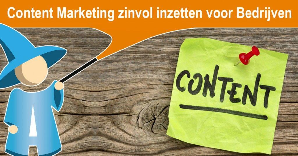 Content marketing zinvol inzetten voor jouw bedrijf!