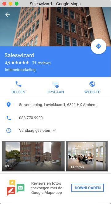 Meld je bedrijf aan bij Google Maps