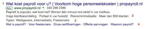 Extensies in Google