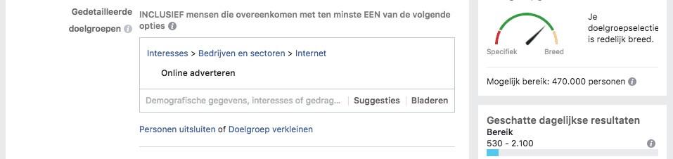 Doelgroep bepalen op Facebook
