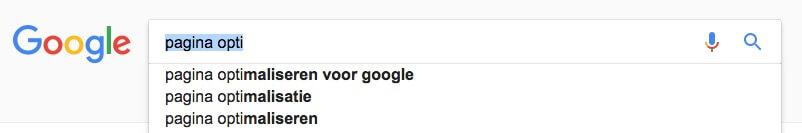 Google gebruiken om zoekwoorden combinaties te bepalen