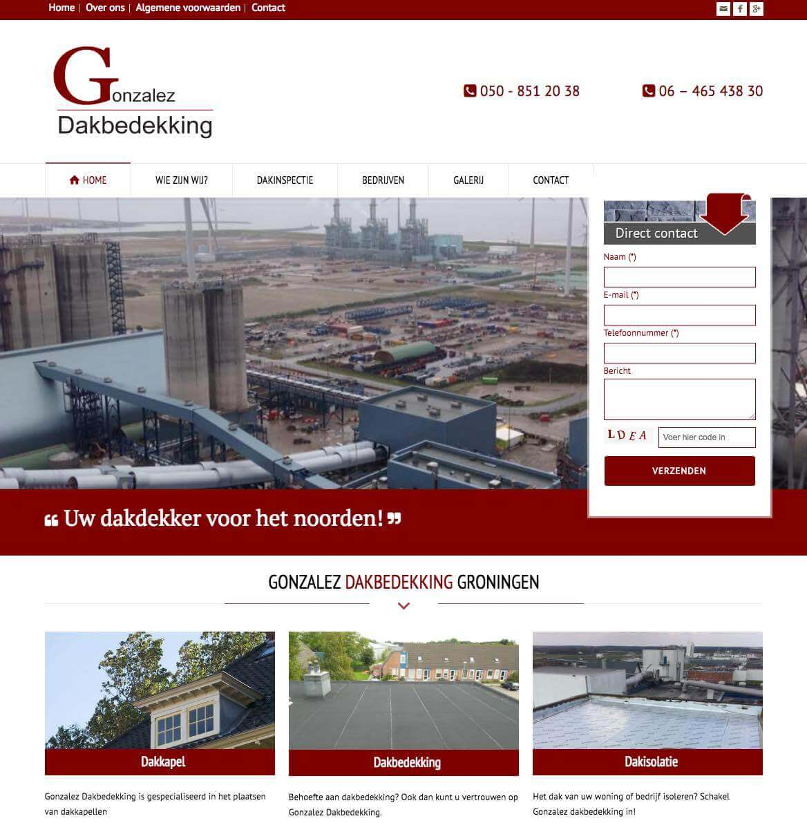 Functioneel webdesign dakbedekking