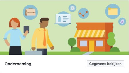 Onderneming Facebook sjabloon