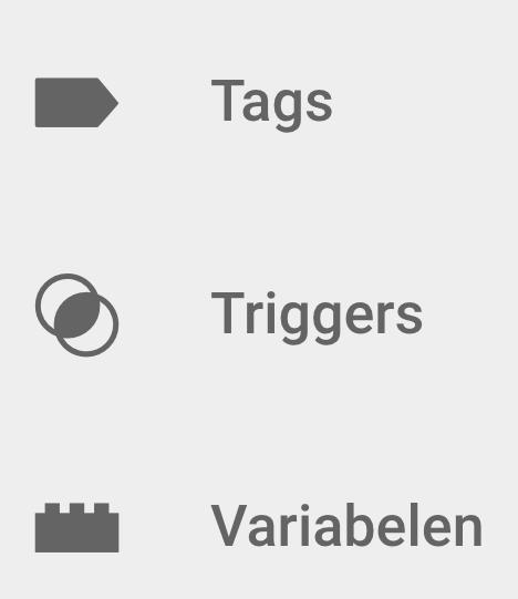 Bouwstenen van Google Tag Manager
