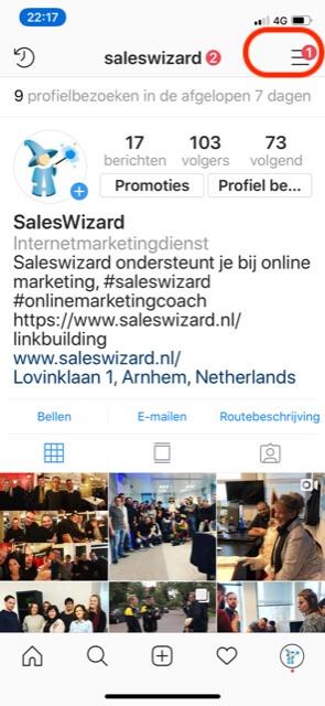 Instagram-menu