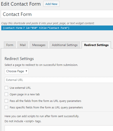 Contact Form 7 doorverwijzen naar een bedanktpagina voor conversies meten