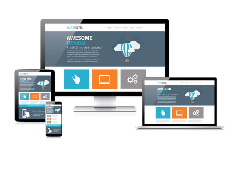 Webdesign trends 2019: Flat webdesign