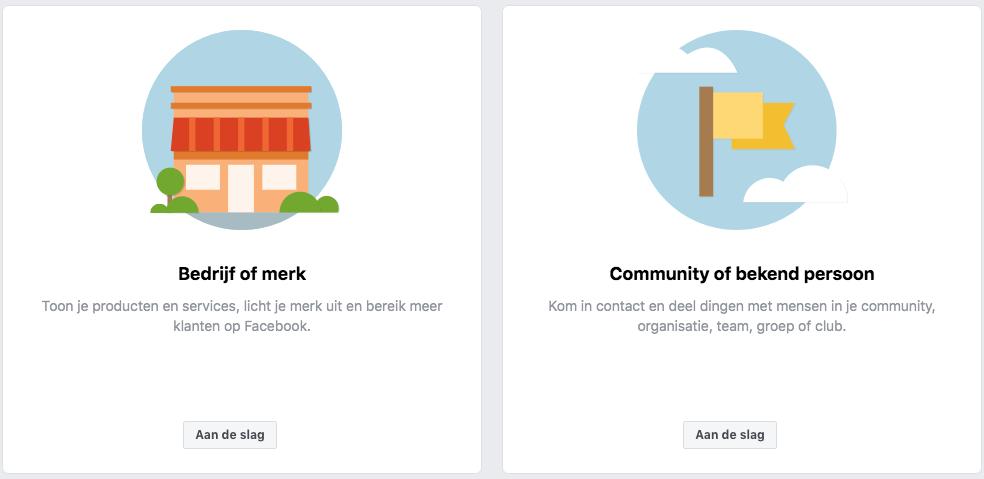 Facebook bedrijf of merk
