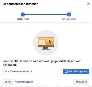 Facebook Gebeurtenissen instellen stap 2