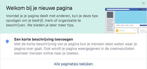 Facebook bedrijfspagina informatie