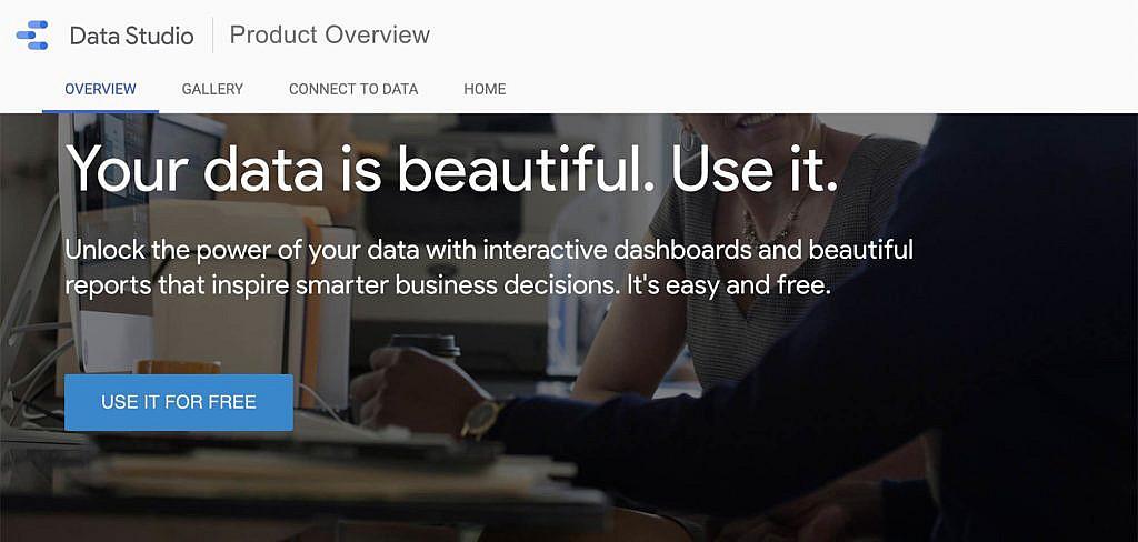 Aanmelden Google Datastudio