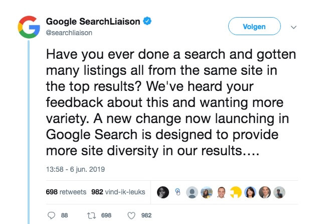 Google Diversity Update