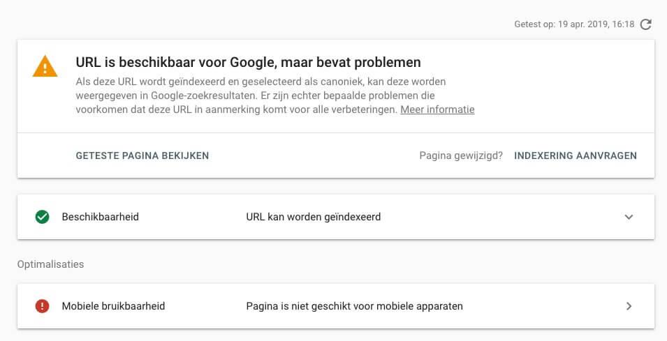 Problemen met website detecteren