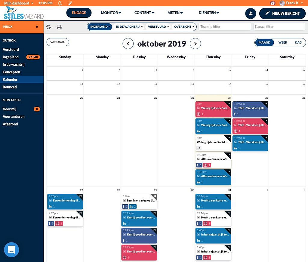Social media kalender tool