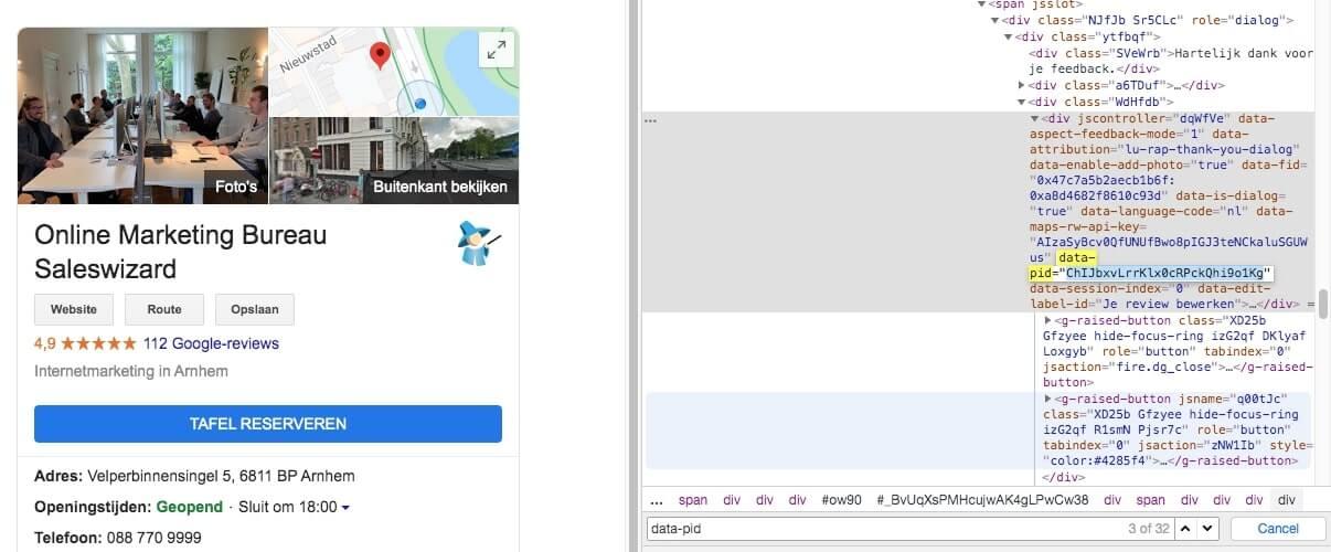 places id vinden