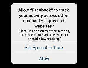 Facebook toestaan je activiteiten te tracken