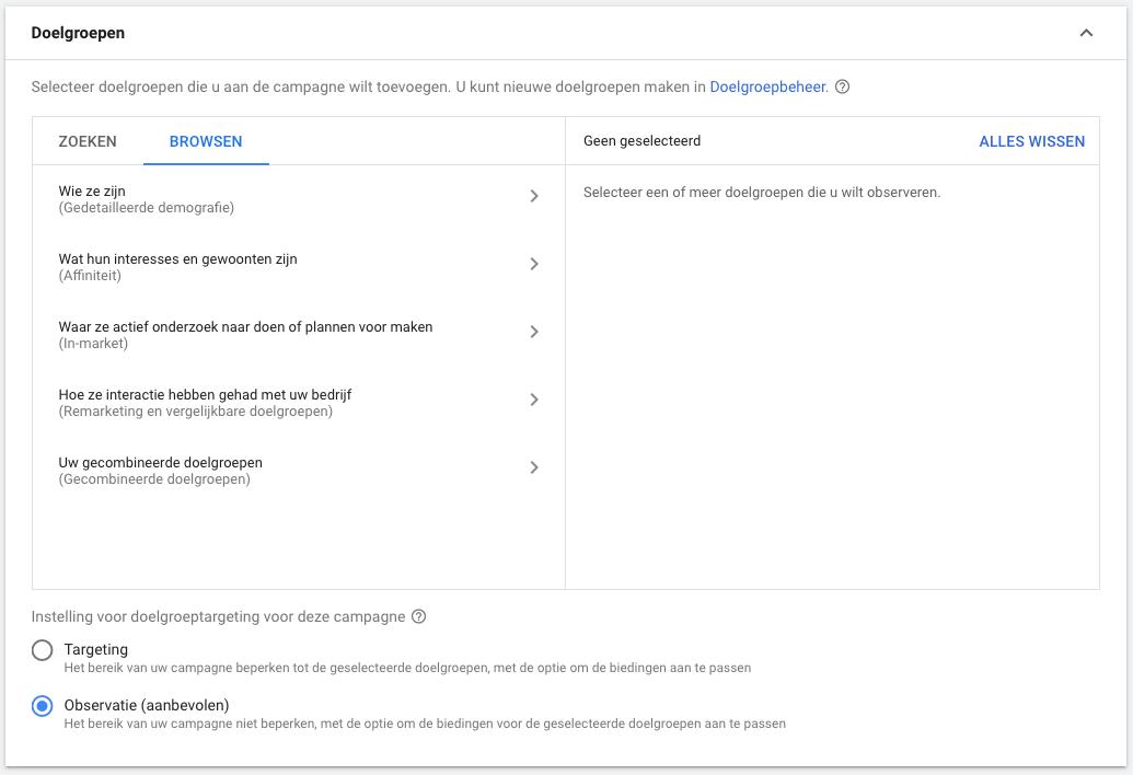 Google Ads tips doelgroepen